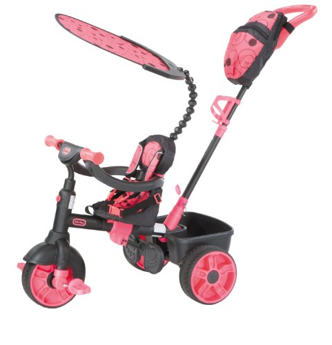 Little Tikes - 634321E4 - Tricycle - 4 En 1 Deluxe Edition-Neon...
