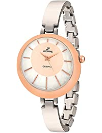 LUCERNE Analogue White Designer Dial Silver Metal Strap Casual Gift Watch For Women A Modern Ladies Watch Gifts...