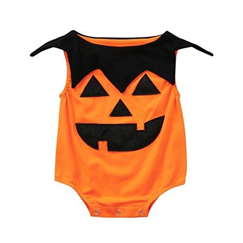 Prevently Baby Halloween Kürbis Overall Neugeborenes Kleinkind Infant -