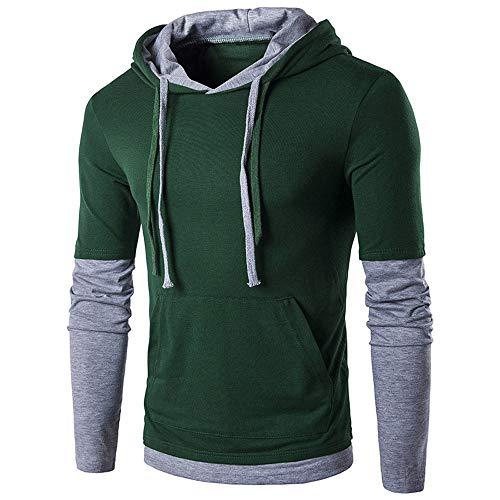 Preisvergleich Produktbild Herren Kapuzen Sweatershirt,  JiaMeng Herren Herbst Winter Langarm Patchwork Top Jacken einfarbig Kordelzug Kapuzenpullover,  Weihnachten Kostüme