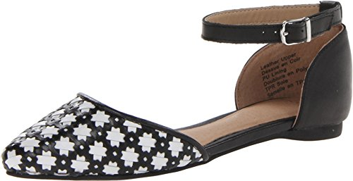 Shellys London, Mocassini donna, nero (Black and White Lattuce), 38 EU