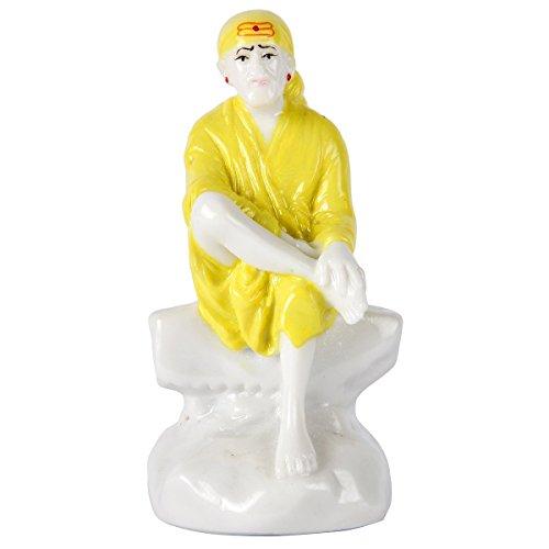 Divine Gifts Brass Sai Baba Marble Idol