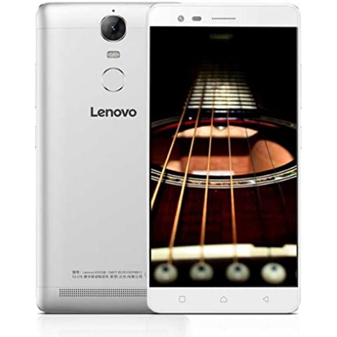Lenovo Lemon K5 Note k52e78 32 GB, Fingerprint Identification, 5.5 inch Android 5.1 MTK Helio P10 Octa Core Up to 1.8 GHz, RAM 3 GB COLOR, Network Color 4 G (Silver)