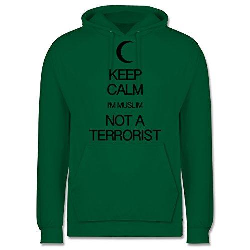 Keep calm - Keep calm I'm Muslim not a terrorist - Männer Premium Kapuzenpullover / Hoodie Grün