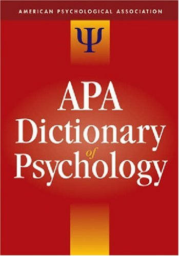 American Psychological Association: APA Dictionary of Psychology