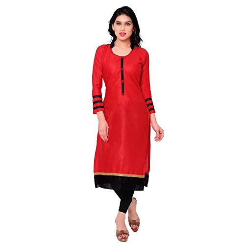 Clothfab Women's Festival Mega Sale Offer Georgette Cotton Kurti