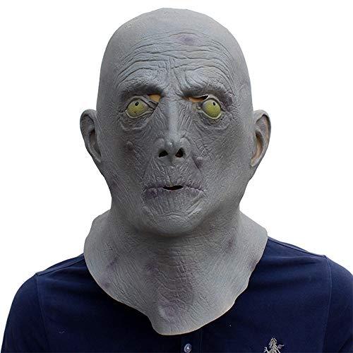 SCLMJ Halloween Terror Maske Rollenspiel Grau Alien Form Latex Maske