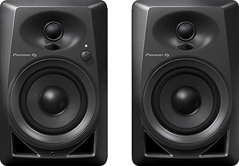 Pioneer DM-40 Noir haut-parleur - hauts-parleurs (Dessus de table/étagère à livres, DJ, Intégré, 2-voies, Rotatif, Noir)