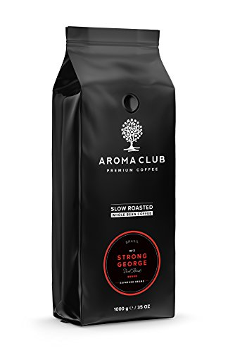 Aroma Club kaffeebohnen 1kg - Strong George Dark Röstung - Brasilianisch - Slow Roast - UTZ...