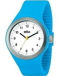 Braun - 66537 - Montre Mixte - Quartz - Analogique - Bracelet Silicone Bleu