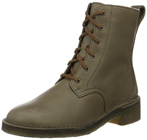 Clarks Originals Maru Elsa, Damen Kurzschaft Stiefel, Grün (Khaki Leather), 39.5 EU (6 Damen UK) (Classic Original Khaki)