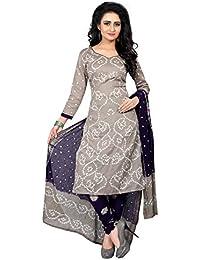 Dealsure Women's Satin Dress Material (Multicolor_Free Size)