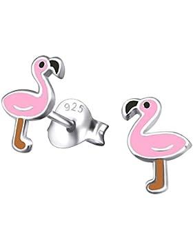 Paar Ohrringe Pink Flamingo klei
