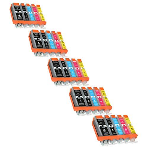 25 Tintenpatronen kompatibel für Canon Pixma MG5650 MG6650 MG5550 MG6450 MG7550 MG7150 iX6850 iP7250 MX925 - PGI-550 PGBK, CLI551XL BK C M Y