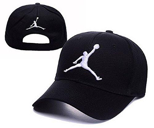 Cappello Air Jordan regolabile Hip Hop Sport Fans Hyst Unisex eresen cappellino da Baseball (Nero, 10)