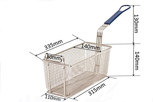 3x Replacements for Blue Seal Evolution Fryer Baskets Suitable for Gas and Electric Commercial Catering Deep Fat Frying – Fits GT18 GT45 GT45E GT46 GT46E GT60 GT60E E43 E43E E44 E44E