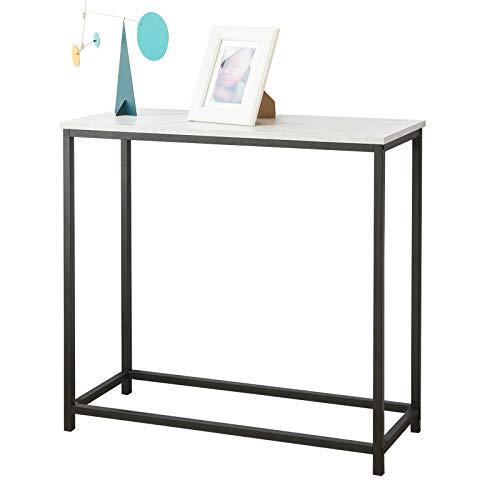 Sobuy tavolo consolle ingresso moderno aspetto marmo stile vintage l80*p30*75cm fsb29-sch