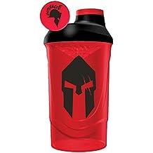 Gods Rage Shaker Wave Shaker Proteinshaker Eiweiß Protein Shaker Rot 600ml Fassungsvermögen (Spartan Rage)