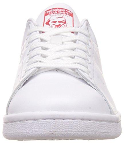 adidas Stan Smith, Mocassins Mixte Adulte Blanc (Running White Ftw/Running White Ftw/Collegiate Red)