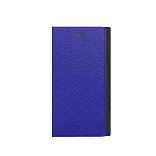 iPhone 6S Schutzhülle, araree® [z-folder] Premium Echtleder Wallet Case Cover mit Kreditkarte ID Halter für Apple (2015) Schwarz/Blau