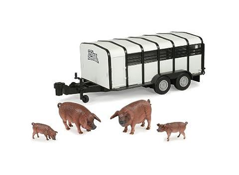 Britains BIG FARM 42995 - Viehtransporter mit Schweinen - Combo Rimorchio