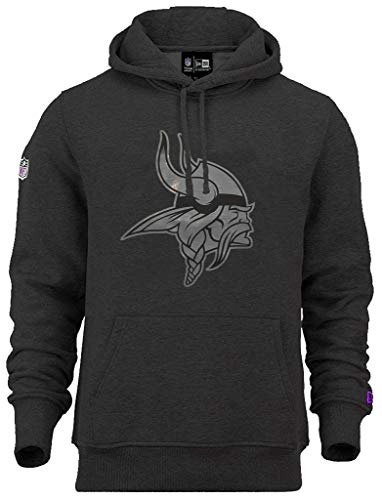 New Era Minnesota Vikings NFL Hoody Two Tone Black Heather - L
