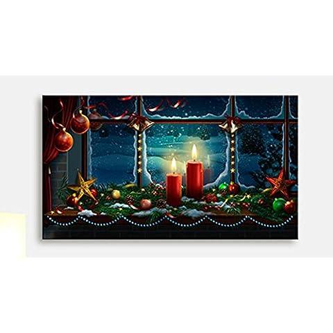 XYXY Natale pittura Frameless soggiorno LED luci murales fibra festivo