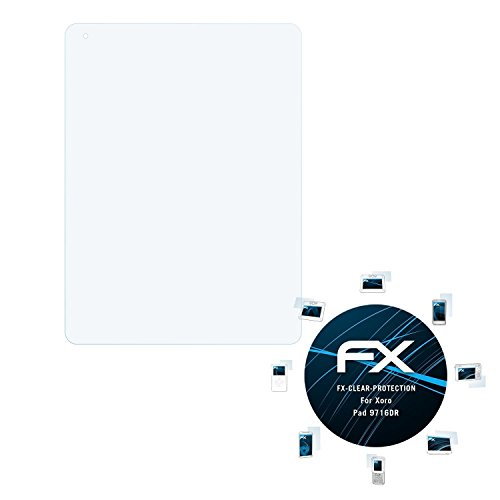 atFolix Schutzfolie kompatibel mit Xoro Pad 9716DR Folie, ultraklare FX Displayschutzfolie (2X)