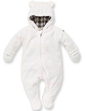 Pinokio Baby - Jungen oder Mädchen Flauschoverall / Anzug aus der Serie North Offwhite mit karriertem Baumwollfutter