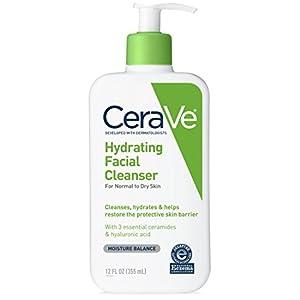 Limpiador facial hidratante CeraVe, 355 ml.