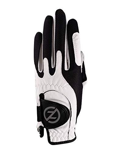 Zero Friction Null Reibung Junior Compression-fit Synthetik Golf Handschuhe, Universal Fit One Size, Jungen, weiß, Einheitsgröße