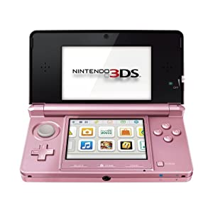 Nintendo Handheld Console 3DS - Coral Pink Bundle with Nintendogs and Cats - Golden Retriever from Nintendo