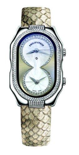 Philip Stein - 11DP-ICHW-PGGL - Montre Femme - Quartz Analogique - Cadran blanc - Bracelet Cuir
