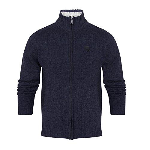 Kangol Herren Jumper Strickjacke Navy - Blue