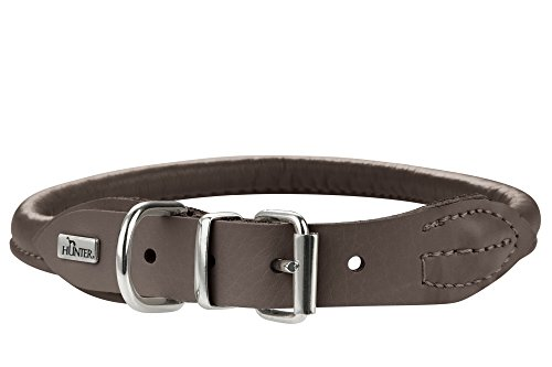 Hunter Hundehalsband Round & Soft Elk, Elchleder, GröÅ   04016739616609