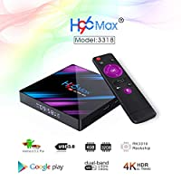 ‏‪H96 MAX Android 9.0 TV Box 4GB RAM/32GB ROM Quad Core 64-bit Chipset 3D / 4K Stereo HD Image Support USB 3.0 / BT 4.0/2.4G 5G Dual WiFi Smart Android TV Box‬‏