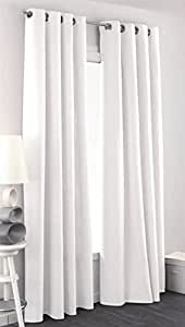 Rideau Aspect Lin 140x260 cm Blanc