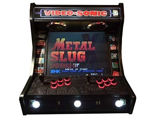 Roboticaencasa Arcade BARTOP VIDEOCONSOLA Retro máquina recreativa -Tamaño Real- Diseño- VIDEOSONIC