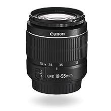 Canon EF-S 18-55 mm f/3.5-5.6 III Lens - Black - New in White Box