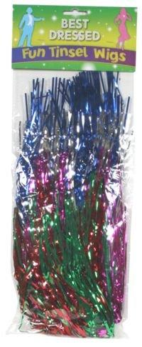 - Multicolor Lametta Perücke
