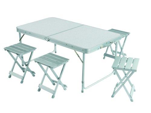 Gran Canyon-  Juego de mesa maleta incl.2 taburetes, plegable, aluminio,...
