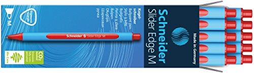 Schneider Slider Edge M Kugelschreiber (Dreikant-Stift mit Strichbreite M=Mittelstrich, Kappenmodell) 10er Packung cyan-rot