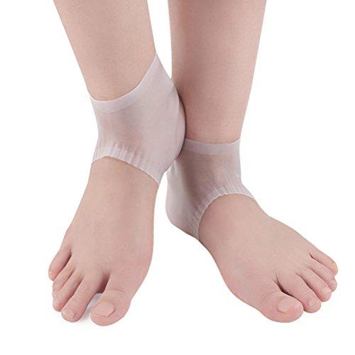 HEALIFTY 1 Para Anti-Rutsch-Silikon-Gel-Füße Ferse Socken rissige Fersen Socken feuchtigkeitsspendende Anti-Clamping-Socken Fußpflege Protector