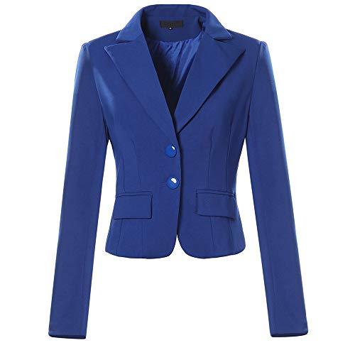 (Xmiral Parka Strickjacken Damen Mit Kapuze Mäntel Langarm Weinrote Taschen Outwear (L,Blau))