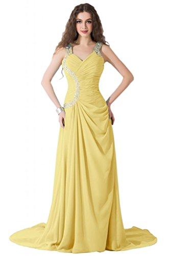 Sunvary modesta Spaghetti, cinghia e corsetto abiti per abiti da sera Pageant sera Daffodil