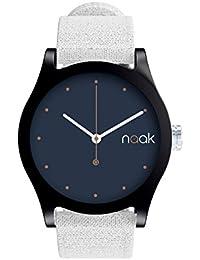 Black Moon - Reloj unisex con correa de lona intercambiable.