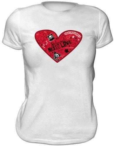 SKELANIMALS T-shirt femme BLANC ''Valentine'' Taille XL