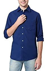 Allen Solly Mens Comfort Fit Shirt_ AMSF515G02747_44_ Blue