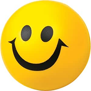 Smiley Yellow Ball - Lightweight foam ball for indoor & outdoor use