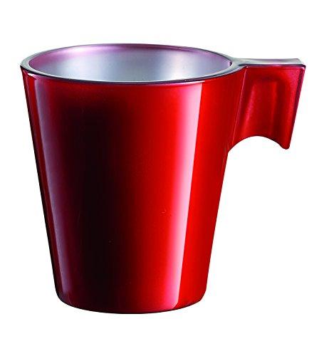 Luminarc 9204412 Lot de 6 Tasses Flashy Expresso Verre Rouge 8 cl